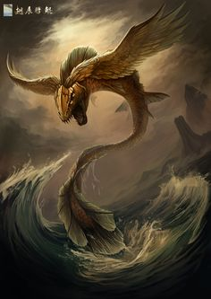Kun Peng- Chinese myth: an enormous bird that could turn into an enormous fish