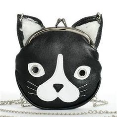 Black Cat Purse with Chain