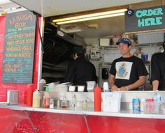 Kaboom Box, whose menu items include oyster po'boys, mushroom poutine, and a salmon sandwich, is one of more than 20 food trucks participating in Food Cart Fest.