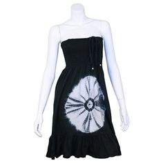 """""""Circle of Life"""" Tie Dyed Straped Smock Dress"""