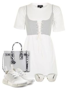 """""""Sin título #2857"""" by camilae97 ❤ liked on Polyvore featuring Topshop, Yves Saint Laurent, adidas Originals and Miu Miu"""
