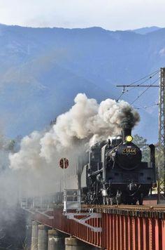 By Train, Train Tracks, Japanese Countryside, Japan Train, Old Steam Train, Choo Choo Train, Night Train, Old Trains, Shizuoka