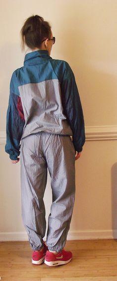 Vintage 90s Colorblock Windbreaker Track Suit / by RavishingRuby