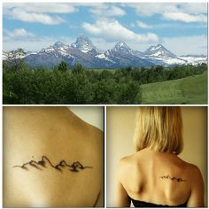 New Ink, Love my new mountain tattoo!
