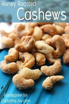 Honey Roasted Cashews on www.kristendukephotography.com http://www.kristendukephotography.com/honey-roasted-cashews/