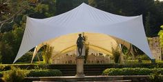 A festival tent-style marquee for the wedding ceremony. It's perfect!