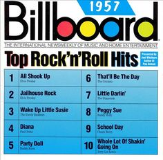 These were the songs that made the top rock n' roll hits on the Billboard magazines. The artists that featured in these hit were Elvis Presley, The Everly Brothers, Paul Anka, Jerry Lee Lewis and many others.