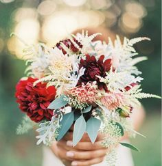 Astilbe, dahlias, eucalyptus | At Home in Love