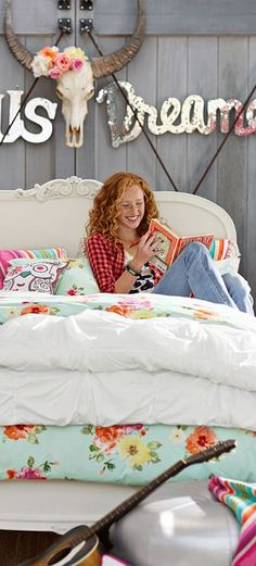 Junk Gypsy Fields of Clouds Bedding #teen #bedrooms