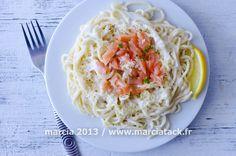 Pâtes au saumon fumé - Recette - Marcia 'Tack