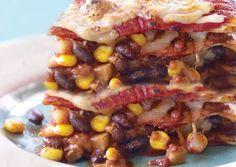 tortilla lasagna--veggie