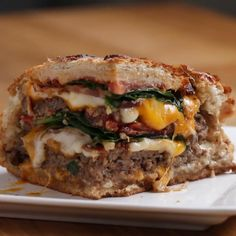 Double Cheeseburger Bread Bowl by Tasty