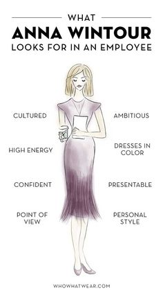 What Anna Wintour looks for when adding new members to her team. It's important to find someone who will be a good fit and share your brand's vision. Boss Lady, Girl Boss, Anna Wintour Style, Work Tools, Classy Chic, Women In History, Fashion Quotes, Classy Women, Business Fashion