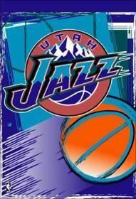 """Utah Jazz 27""""x37"""" Banner"""