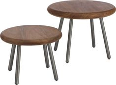 (T-21 Option) We could use 2 small tables together as a coffee table. Wafer tables set of two  | CB2