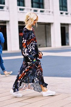 ☆☆☆☆ anna spring fall. Street style. Maxi dress
