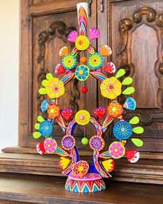 Handcrafted Mexican Tree of Life Candleholder by Sablan Ceramics #mexicanfolkart #mexicandecor #mexicanart #arbolsdelavida
