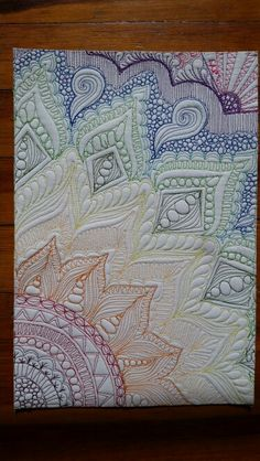 Inspired by Karlie Porters Graffiti quilting