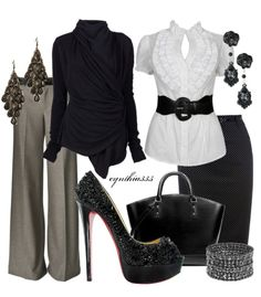 Yes, the ultimate wedding planner's wardrobe and I want it! Laughs. Polyvore.com