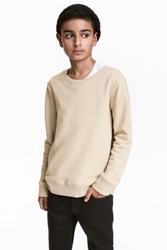 Sweatshirt - Açık bej - | H&M TR