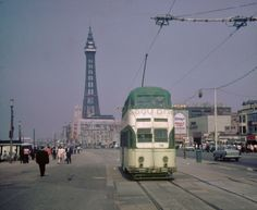 Blackpool tram 726 1,000×818 pixels Blackpool England, Paris Skyline, 1960s, Street View, Culture, Memories, Travel, Image, Memoirs