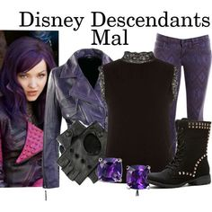 """Disney Descendants: Mal"" by murphylovesturtles ❤ Disney Descendants Mal, Mal Descendants Costume, Disney Bound, Disneybound Outfits, Disney Decendants, Disney Inspired Fashion, Disney Fashion, Disney Themed Outfits, Estilo Disney"