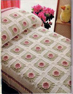 "Child's bedspread with a wonderful diagram. I miss ""Magic Crochet"""