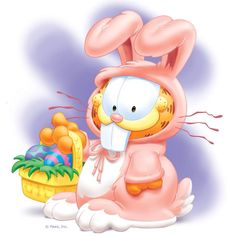 Garfield as the Easter Bunny