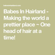 Babes In Hairland - Making the world a prettier place ~ One head of hair at a time!