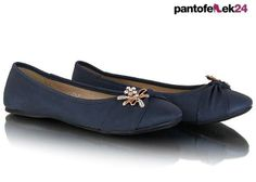 Niebieskie baleriny z cekinami / Blue ballerines with crystals / 19,50 PLN #ballerines #summer #spring #fashion #wiosna