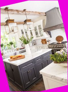 Modern rustic design is preferred right now. It is often exemplified by a mix of natural materials including metal, wood and stone. In a kitchen area ...