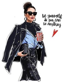 Da Print Fashion Accessories Be yourself amp; you can be anything Fashion illustration Inspired by shortstoriesandskirts Fashion Prints, Fashion Art, New Fashion, Trendy Fashion, Girl Fashion, Fashion Design, Classy Fashion, Fashion Drawings, Fashion Sketches