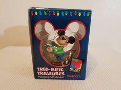 Disney Mickey Mouse Hanging Lights Tree-rific Treasures Hanging Ornament Enesco #Enesco