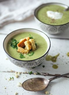 Broccoli, cumin and yogurt soup