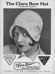 The Clara Bow Hat, c. 1920's