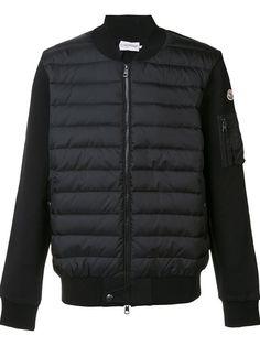 MONCLER padded front bomber jacket. #moncler #cloth #jacket