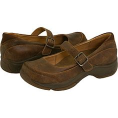 Dansko Kate, I have these and they are really comfortable.