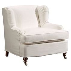 Check out this item at One Kings Lane! Taylor Linen Club Chair, Ivory