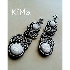 Earrings soutache Black &White di kikkamanfrin su Etsy