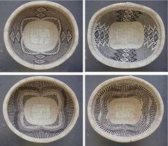 Africa | Fine weaving by rural Tonga women in Zimbabwe. Baskets are made using ilala palm. Available through www.designafrika....  | Photo ©afrikani
