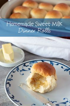 Homemade dinner rolls with sweet milk will make your holiday table complete. Easy recipe with limited ingredients, and it comes out great every time. Just ask my nephew, Luke! Recipe at http://www.muttandchops.com/homemade-sweet-milk-dinner-rol…/ #homemade #dinnerrolls #holidayrecipe Image may contain: food