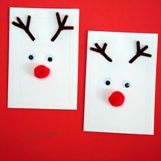 Christmas cards kids can make. 12 easy homemade Christmas card ideas for kids from preschool through school age. Take a look and get inspired...