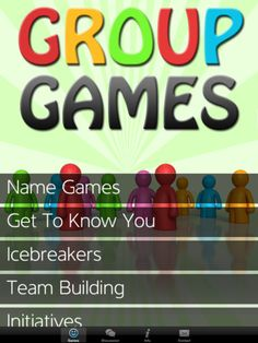 group games >>> drama/team building or start of the year