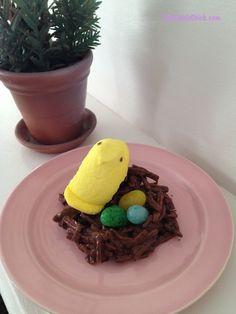 Easter Peeps on a Nest Treat #PeepsFan