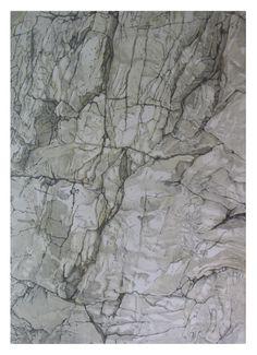 Heribert Stragholz : Felswand - Aquarell über Bleistift - 70 x 100cm - ...