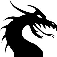 dragon head silhouette by kuba - avatar, black, clip art, clipart, dragon, icon, silhouette, tattoo,