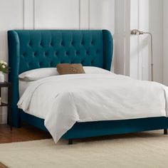 Skyline Furniture Wingback Linen Bed | AllModern