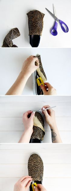Fall For DIY tutorial leopard slip ons