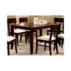 Coaster Springs Rectangular Leg Dining Table in Cappuccino Finish - http://www.furniturendecor.com/coaster-springs-rectangular-leg-dining-table-in-cappuccino-finish/ - Categories:Dining Room Furniture, Dining Tables, Furniture, Home and Kitchen