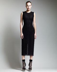 Below-Knee Macrame Sheath Dress by Alexander McQueen at Bergdorf Goodman.